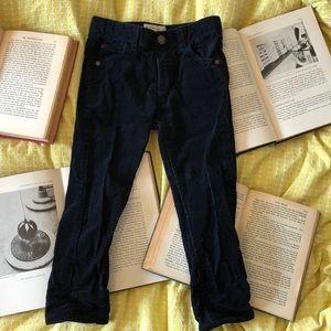Zara Boys Black Corduroy Pants 5T